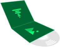 Icono a medida cubierta gatefold
